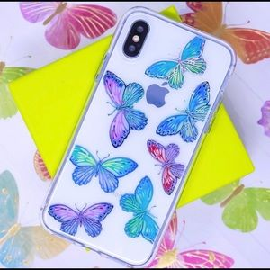 Protective Holo Butterflies iPhone Case